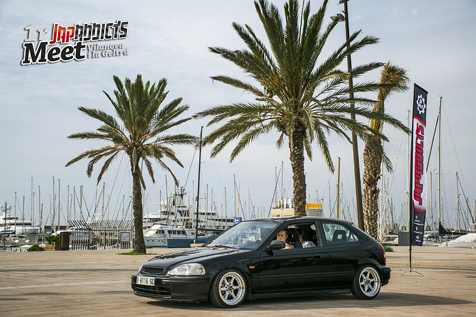 Civic Ek negro